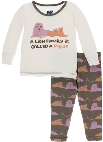 KicKee Pants Lions Long Sleeve Pajama Set