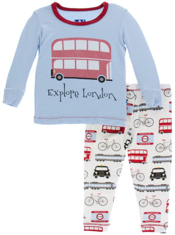 KicKee Pants London Transport Long Sleeve Pajama Set