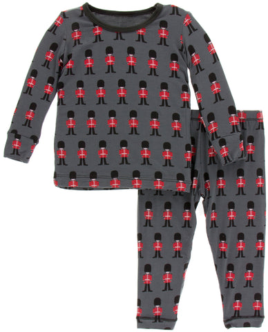 KicKee Pants Queen's Guard Long Sleeve Pajama Set