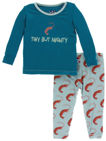 KicKee Pants Jade Shrimp Long Sleeve Pajama Set