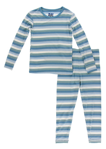 KicKee Pants Oceanography Stripe L/S Pajama Set