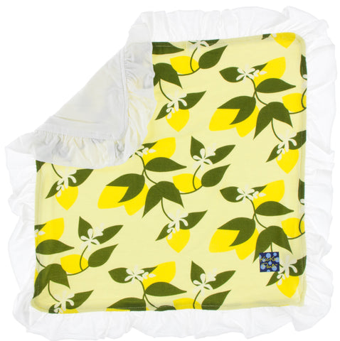 KicKee Pants Lime Blossom Lemon Tree Bamboo Ruffle Lovey