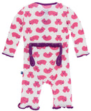 KicKee Pants Natural Wombat Muffin Ruffle Coverall with Snaps