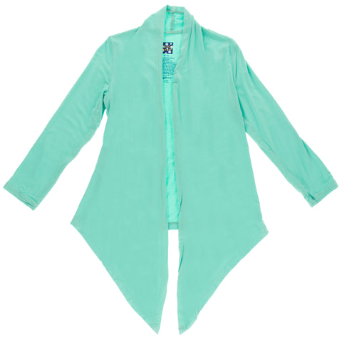 KicKee Pants Solid Glass Girls Open Front Cardigan