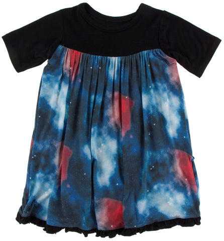 KicKee Pants Red Ginger Galaxy Classic S/S Swing Dress