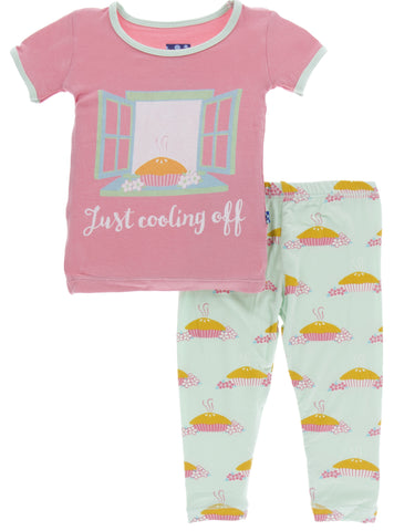 KicKee Pants Apple Pie Blossom S/S Pajama Set with Pants - Basically Bows & Bowties