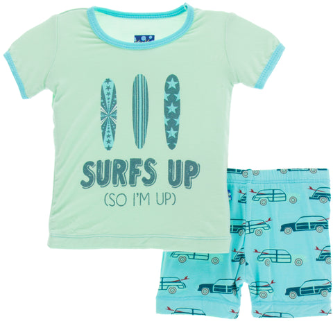 KicKee Pants Shining Sea Woody S/S Pajama Set with Shorts