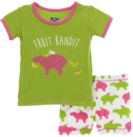 KicKee Pants Natural Capybara S/S Pajama Set with Shorts