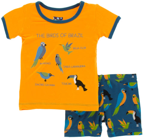 KicKee Pants Tropical Birds S/S Pajama Set with Shorts