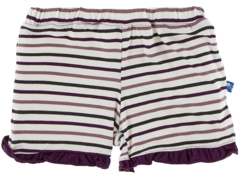 KicKee Pants Tuscan Vineyard Stripe Ruffle Shorts