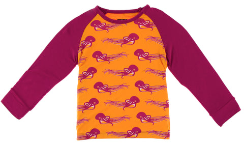 KicKee Pants Apricot Octopus Fitted Raglan Tee