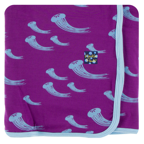 KicKee Pants Starfish Jellies Print Swaddling Blanket