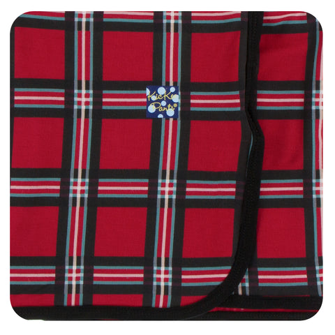 KicKee Pants Christmas Plaid 2019 Swaddling Blanket Basically Bows & Bowties