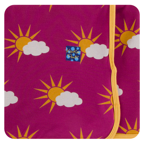 KicKee Pants Berry Partial Sun Swaddling Blanket Basically Bows & Bowties