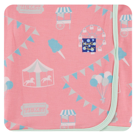 KicKee Pants Strawberry Carnival Print Swaddling Blanket