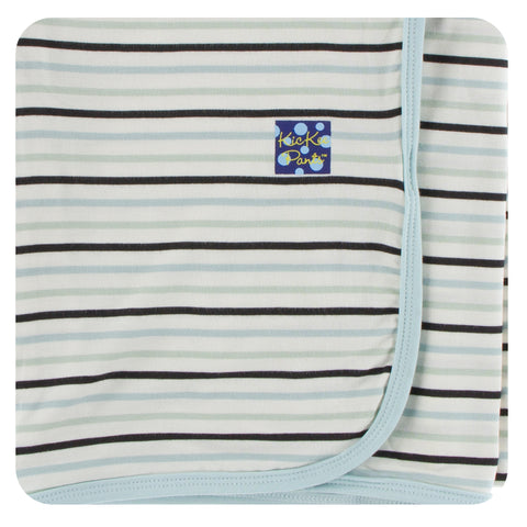 KicKee Pants Tuscan Afternoon Stripe Swaddling Blanket