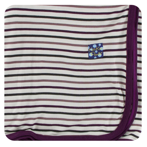 KicKee Pants Tuscan Vineyard Stripe Swaddling Blanket