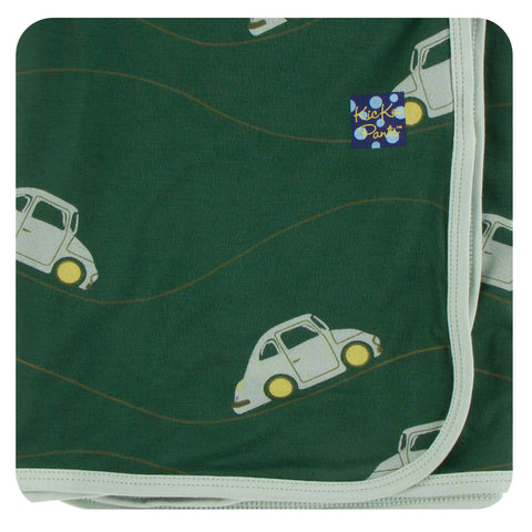 KicKee Pants Topiary Italian Car Swaddling Blanket