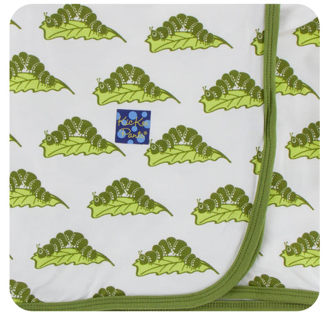 KicKee Pants Natural Caterpillars Swaddling Blanket