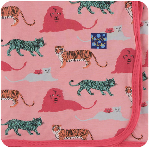 KicKee Pants Strawberry Big Cats Swaddling Blanket