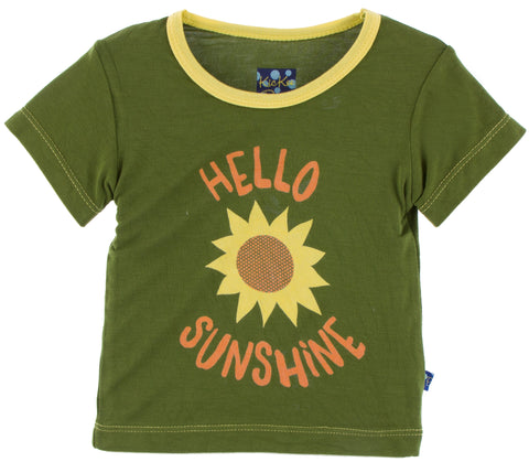 KicKee Pants Hello Sunshine Easy Fit Piece Print Tee