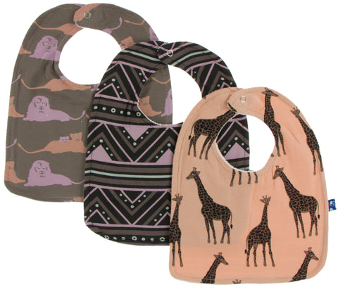 KicKee Pants Bib Set-Lions/African Pattern/Suede Giraffe - Basically Bows & Bowties