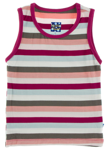KicKee Pants Geology Stripe Tailored Fit Tank Basically Bows & Bowties