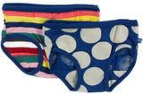 KicKee Pants Bright London Stripe & Navy Mod Dot Girl's Underwear Set