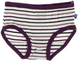 KicKee Pants Tuscan Vineyard Stripe & Wine Grapes Saffron Girl Underwear Set
