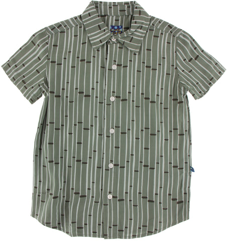 KicKee Pants Succulent Bamboo Woven Button Down Shirt
