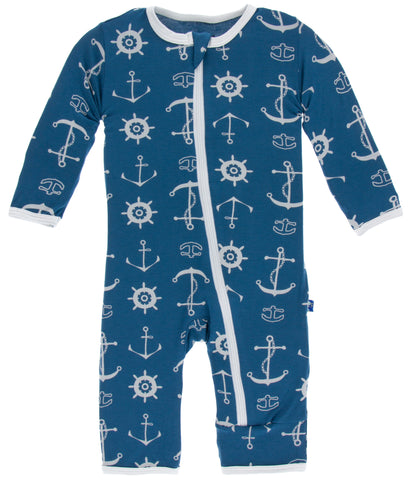 KicKee Pants Twilight Anchor Coverall with Zipper-PRESALE