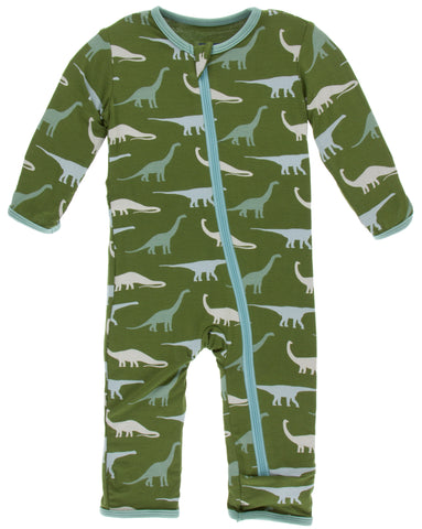 KicKee Pants Moss Sauropods Coverall with Zipper Basically Bows & Bowties