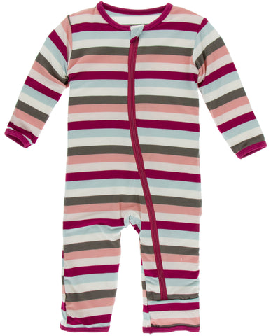 KicKee Pants Geology Stripe Coverall with Zipper Basically Bows & Bowties