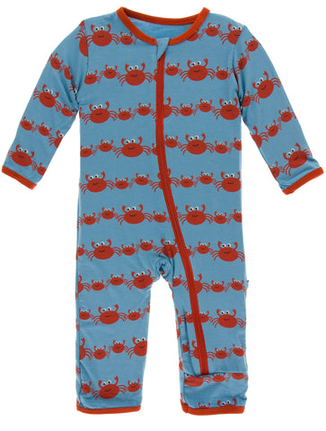 KicKee Pants Blue Moon Crab Family Coverall with Zipper
