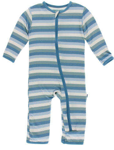 KicKee Pants Oceanography Stripe Coverall with Zipper