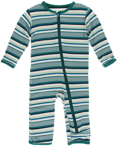 KicKee Pants Agriculture Multi Stripe Coverall with Zipper