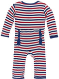 KicKee Pants USA Stripe Coverall with Zipper
