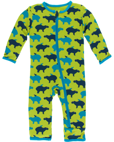 KicKee Pants Meadow Capybara Coverall with Zipper