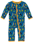 KicKee Pants Twilight Tropical Birds Coverall with Zipper