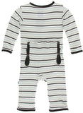 KicKee Pants Tuscan Afternoon Stripe Coverall with Zipper