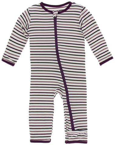 KicKee Pants Tuscan Vineyard Stripe Coverall with Zipper