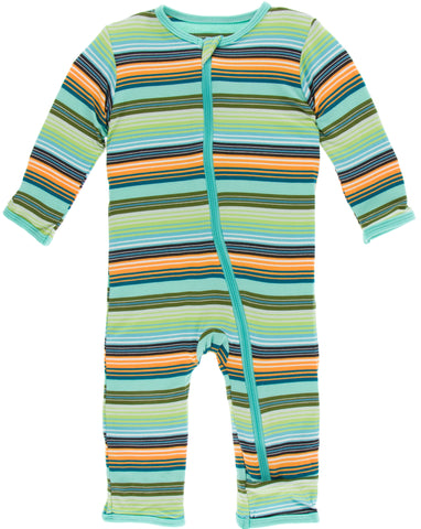 KicKee Pants Cancun Glass Stripe Coverall with Zipper
