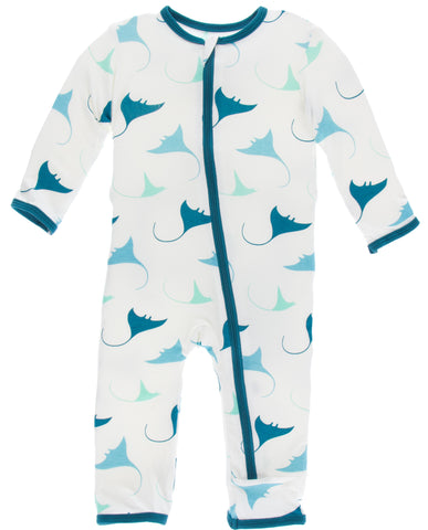 KicKee Pants Natural Manta Ray Coverall with Zipper