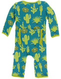 KicKee Pants Seagrass Cactus Coverall with Zipper