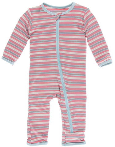 KicKee Pants India Dawn Stripe Coverall with Zipper Basically Bows & Bowties