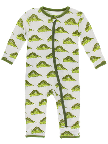 KicKee Pants Natural Caterpillars Coverall with Zipper