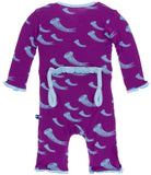 KicKee Pants Starfish Jellies Muffin Ruffle Coverall with Zipper