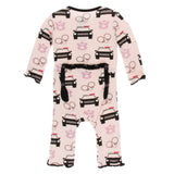 KicKee Pants Macaroon Law Enforcement Muffin Ruffle Coverall with Zipper