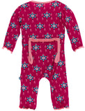 KicKee Pants Rhododendron Pinata Muffin Ruffle Coverall with Zipper