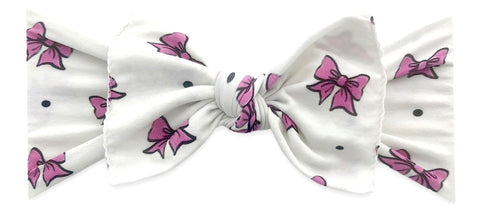 Baby Bling I Like Big Bows Printed Knot Headband